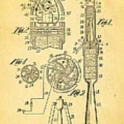 Goddard Rocket Apparatus Patent Art 1914 Art Print