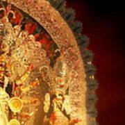 Goddess Durga Art Print by Prajakta P