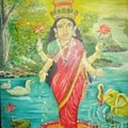 Goddess Mahalaxmi Art Print