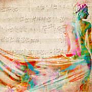 Goddess Of Music Art Print