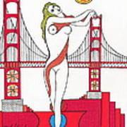 Goddess Of The Golden Gate Print by Michael Friend