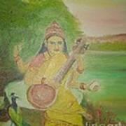 Goddess Sarswati Art Print