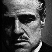Godfather Marlon Brando Art Print by Tony Rubino