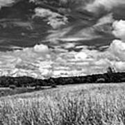 God's Country In Monochrome Art Print