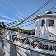 God's Grace Shrimp Boat Art Print