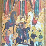 God's Horse Masters-the Deposition Art Print