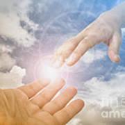 God's Saving Hand Art Print
