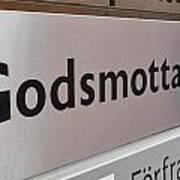 Godsmottagning. Stockholm 2014 Art Print