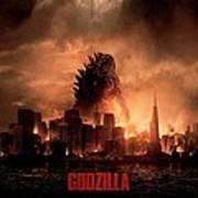 Godzilla 2014 Art Print