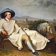 Goethe In The Roman Campagna Art Print
