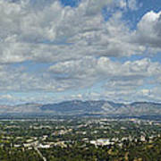 Going Places Cloudy Blue Sky Panoramic Art Print