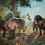 Going To Pasture Art Print