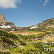 Going To The Sun Road From Highline Trail Art Print
