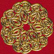 Gold Broach Art Print