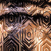 Gold Carving Art Print