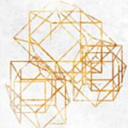 Gold Cubed II Art Print