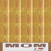 Gold Embossed Foil Art For Mom Digital Graphic Signature   Art  Navinjoshi  Artist Created Images Te Art Print