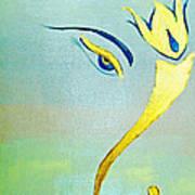 Gold Ganesh Art Print