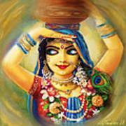 Gold Gauri Art Print by Lila Shravani