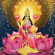 Gold Lakshmi Art Print by Lila Shravani