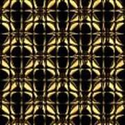 Gold Metallic 8 Art Print