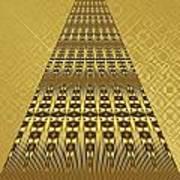 Gold Metallic 9 Art Print
