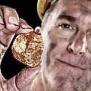 Gold Miner With Nugget Art Print