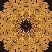 Gold Oak Leaves Art Print