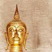 Gold Painted Buddha Statue Art Print