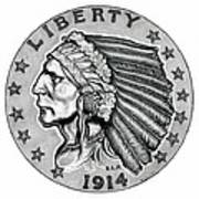 Gold Quarter Eagle Art Print