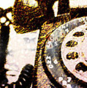 Gold Rotary Phone Art Print