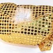 Gold Sequin Purse Art Print