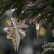 Gold Star Christmas Tree Ornament 4 Of 4 Art Print