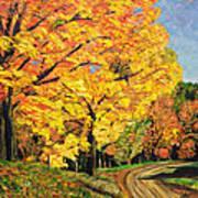 Golden Autumn Colors Art Print
