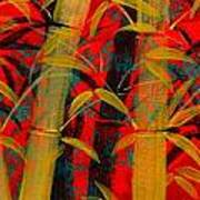 Golden Bamboo Art Print