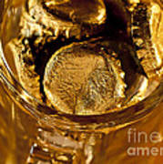 Golden Beer  Mug  Art Print