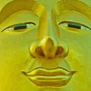 Golden Buddha Smile Art Print by Allan Rufus