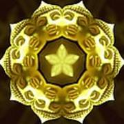 Golden Buddha Star Art Print