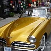 Golden Car Art Print