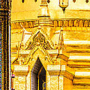 Golden Chedi - Temple Of The Emerald Buddha Print by Colin Utz