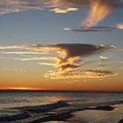Golden Clouds And Blue Sky Art Print