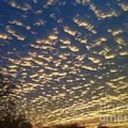 Golden Clouds Art Print