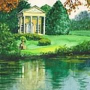 Golden Cottage Art Print