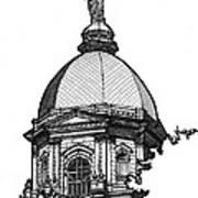 Golden Dome Art Print by Calvin Durham