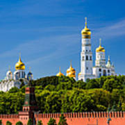 Golden Domes Of Moscow Kremlin - Featured 3 Art Print