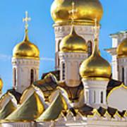 Golden Domes Of The Russian Church Art Print