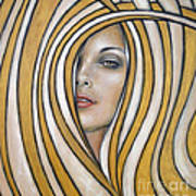 Golden Dream 060809 Art Print by Selena Boron
