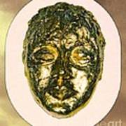 Golden Face From Degas Dancer Art Print
