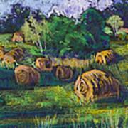Golden Fields Of Door County Art Print