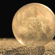 Golden Frozen Bubble Art Print